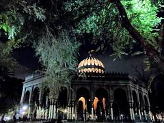Morisco Kiosk (brisa estelar) Tags: kiosko morisco mudejar art islamic santa maria la ribera cdmx mexico trees night lights architecture green