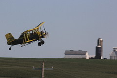Crop Duster Paid a Visit (bjcoving) Tags: biplane airplane dusting duster crop iowa midwest flying agriculture farm crops