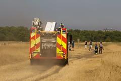 Fire unit crossing Wanstead Flats to cut off fires advance. (ArtGordon1) Tags: wansteadflats wanstead london england uk summer july 2018 fire danger davegordon davidgordon daveartgordon daveagordon artgordon1 lfb londonfirebrigade