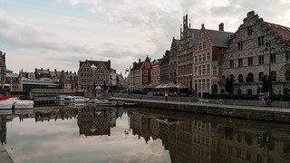 Graslei reflected - Gent, Belgium