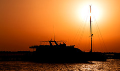 IMG_4251 (radomirmor) Tags: boat sunset sun sea water sky 6d canon egypt mbpictures ship