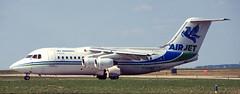 BAe146   F-GOMA   CDG   19960429 (Wally.H) Tags: bae146 british aerospace 146 fgoma airjet cdg lfpg paris charlesdegaulle roissy airport