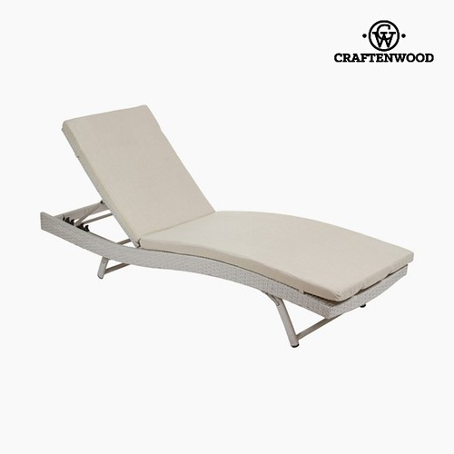 Sun-lounger (194 x 28 x 65 cm) Rattan Polyester by Craftenwood
