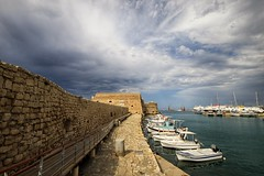 Heraklion harbour (wimkappers) Tags: harbour greece colorful sea travel boat fortress