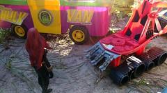 Paprihaven 1388 (MayorPaprika) Tags: lgv20 lgvs995 112 custom diorama toy story paprihaven action figure set marvellegends blackwidow natasharomanova incredible hulk van empire swampthing bayoublaster