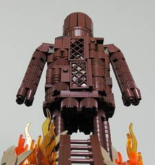 Looking up at the Wicker Man (rh1985moc) Tags: lego wicker man horror film