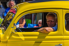 Vibrant vintage (sniggie) Tags: danville greatamericanbrassbandfestival kentucky celebration classicautomobile parade street vintageautomobile yellow