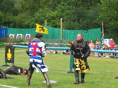 DSCF3867 (SierPinskiA) Tags: ruffordabbeycountrypark rufford knightsofnottingham fujixs1 jousting medieval horse knights goldeneagle falcon