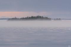 ''L'île de l'anse à l'Orignal!'' Le Bic (pascaleforest) Tags: brume mist eau water sky cloud nuage nature nikon passion landscape paysage québec canada île ciel forest forêt