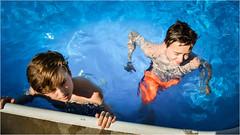 Twins (halfpintharmony) Tags: twins swimming pool swimmingpool flickrfriday