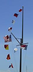 Fluttering (pjpink) Tags: smalltown beaufort northcarolina nc carolina crystalcoast may 2018 spring pjpink 2catswithcameras flag