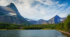 Lakeside view (Photosuze) Tags: landsape montana lake mountains sky clouds glaciernationalpark