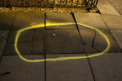 Magic Circle (danielchapman1) Tags: paint street roadwork bemertonestate islington london roadworks circle sun evening eveningsun pavement sidewalk