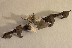 Moose Rut (Kevin Hutson) Tags: origami moose paper folding rut wildlife box pleating