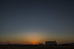 Near The End (davidseibold) Tags: america bakersfield california jfflickr kerncounty photosbydavid postedonflickr powertower refinery sunset tank unitedstates usa