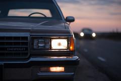 Headlights (Chris 1971) Tags: chevrolet caprice classic 39kgk3 stationwagon gm bbody lights headlights koplampen sunset zonsondergang 1985