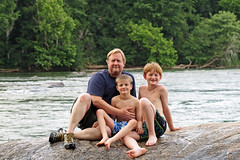 broadriverboyontherock (FAIRFIELDFAMILY) Tags: broad river west columbia sc south carolina water fairfield southern winnsboro jason taylor grant carson michelle white waves splash swimming fun pretty rock rocks kayak kayaking brother brothers child young old outside explore exploring boy bridge playing play