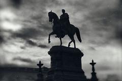 Triumph (erglis_m (Mick)) Tags: blackandwhite bw blackwhite monochrome wetplate dresden statue silhouette fineart canon canoneos5dmkiii contrast interesting