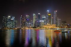 city (Jakub Socha) Tags: singapore architecture city lights night urban modern water mordor nikon d7000 landscape