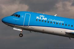 Fokker 70 KLM Cityhopper PH-KZS cn 11540 (Guillaume Besnard Aviation Photography) Tags: ams eham amsterdamschiphol schipholairport amsterdam plane planespotting canoneos1dsmarkiii canonef500f4lisusm fokker70 klmcityhopper phkzs cn11540
