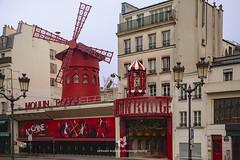 Moulin Rouge, Paris (fesign) Tags: famousplace france internationallandmark leisureactivity montmartre moulinrouge notredamedeparis parisfrance red rouen travel windmill cabaret artscultureandentertainment facade buildingentrance nightclub outdoors tourism buildingexterior manmadestructure architecture sign
