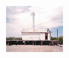 ** (ha*voc) Tags: mamiya7ii 65mm rangefinder film 120 mediumformat 6x7 kodakektar100 urban usa california deathvalley urbandecay corrugation