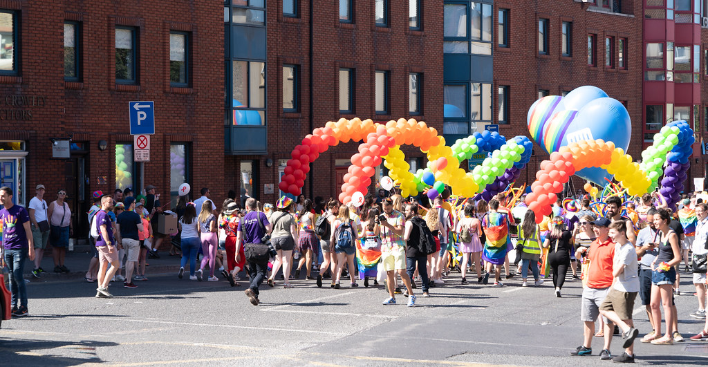 ABOUT SIXTY THOUSAND TOOK PART IN THE DUBLIN LGBTI+ PARADE TODAY[ SATURDAY 30 JUNE 2018] X-100279