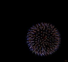 furball (milomingo) Tags: outdoor night sky fireworks pyrotechnics wisconsin texture abstract black onblack multiple light dark contrast vivid geometry symmetry sphere round circle line pattern vibrant swiggle stopmotion explosion technique dimension photoart inorganic curve repeat burst blue copper blackbackground ball