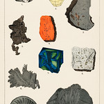 Natural History concept print (1880) by Emil Hochdanz (1816-1855), a collection of colorful gemstones. Digitally enhanced from our own original chromolithographic plate. thumbnail