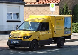 Electric post van