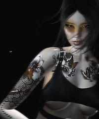 [ lolita ] (Čαℓуρѕσ Ẳρρℓєωнутє) Tags: whitewidow tattoo sl secondlife avatar woman fashion portrait virtual zibska