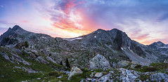 Sunrise in Lac Negre (AzurInspire) Tags: france omd olympusinspire saintmartinvésubie alpesmaritimes fra landscape mountains alps mercantour sky sunrise panorama