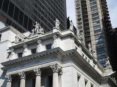 Courthouse Statues Next to Madison Square Park 5405 (Brechtbug) Tags: courthouse roof statues across from madison square park new york city caryatid atlantid 2018 nyc 07152018 art architecture gargoyle gargoyles statue sculpture sculptures facade figures column columns court house law government building buildings