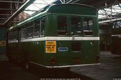WE1326,  OHU 34M, Winterstoke Road Depot, September 27th 1983 b (Bristol RE) Tags: we1326 1326 c1326 ohu34m bristolre rell rell6l ecw b44d we winterstokeroaddepot bristolomnibus