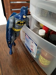 Batman considers seasonings (quinn.anya) Tags: batman toy seasoning spices