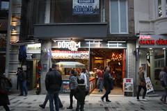 Durum Art (lazy south's travels) Tags: istanbul turkey turkish road street scene urban cafe food lights lit architecture galata district beyoglu
