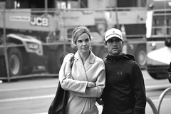 6-19 Candids 51 (TheseusPhoto) Tags: people candid blackandwhite blancoynegro noir bnw monochrome streetphotography street sanfrancisco california city citylife candids couple hat guy girl man woman pretty blonde face