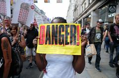 Danger - Trump and the Far Right. (alisdare1) Tags: donaldtrump visit britain theresamay uspresident americanpresident demonstration march rally protest london potus trump humanrights justice unitedkingdom specialrelationship fujixpro2 fujifilm xpro2 16mmf14 fuji16mm fujix