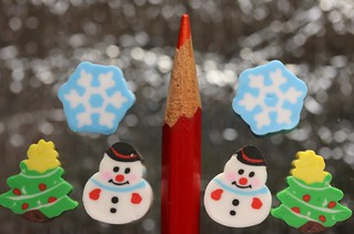 miniature novelty erasers from last Christmas