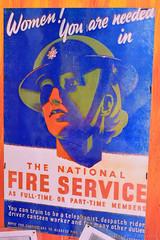 National Fire Service Women Recruitment Poster (Bri_J) Tags: fortpaull paull hull eastyorkshire uk museum militarymuseum yorkshire nikon d7200 nationalfireservice women recruitment poster wwii
