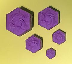 Matrioshka Swirl tess box (mganans) Tags: origami tessellation box