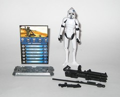 arf trooper star wars the clone wars cw18 blue black packaging basic action figures 2010 hasbro 3a (tjparkside) Tags: arf trooper troopers star wars clone blue black packaging card cardback cw18 cw 18 2010 hasbro basic action figure figures soldier republic army display stand base galactic battle game advanced reconaissance fighter fighters atrt rt all terrain recon transport blaster pistol rifle weapon weapons chaingun projectile missile tcw