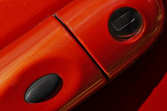 Car Door Handle (andycurrey2) Tags: renault macromondays transportation orange paint macro car door handle