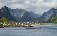 Spectacular Landscape Near Reine (@Tuomo) Tags: norway lofoten reine landscape fjord mountains village clouds sony a7rm3 sel24105g travel travelphotography june summer