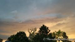 June 18, 2018 - Cool skies before the storm hit. (ThorntonWeather.com)