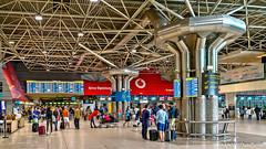 Lisbon, Portugal: Portela-Humberto Delgado Airport Terminal 1 checkin area (nabobswims) Tags: aerialphotography aeroporto airport hdr highdynamicrange humbertodelgado ilce6000 lis lightroom lisboa lisbon lisbonportelaairport nabob nabobswims pt photomatix portela portugal sel18105g sonya6000