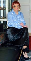 Birgit026951 (Birgit Bach) Tags: pleatedskirt faltenrock satin blouse bluse