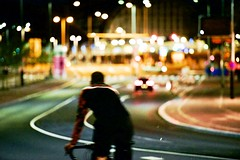 Nightrider 2. (Michael Degenhart) Tags: amsterdam citylights city street streets urban light lights collor color colour colourscolors nightlights