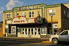 Rialto Theatre, Aitkin, MN (Robby Virus) Tags: aitkin minnesota mn rialto theatre theater facade marquee sign signage movies cinema neon front door entrance