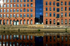 Leeds canal side architecture (Tony Worrall) Tags: city welovethenorth nw northwest update place location uk england north visit area attraction open stream tour country item greatbritain britain english british gb capture buy stock sell sale outside outdoors caught photo shoot shot picture captured leeds architecture building canal wet waterway factory warehouse apartments reflections shine wall windows wetreflection urban